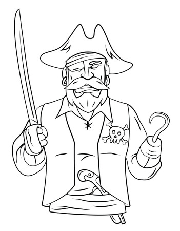 Pirate Mascot Vector