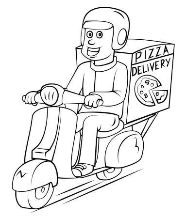 Pizza Delivery  イラスト・ベクター素材