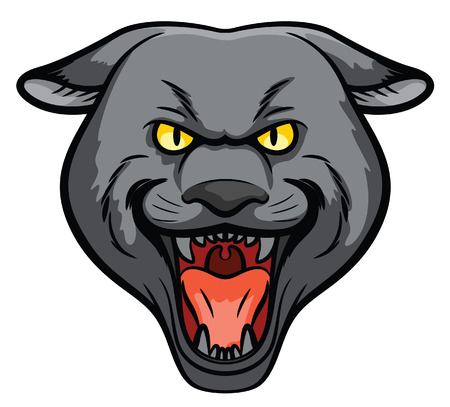 Panther Head Mascot Vector