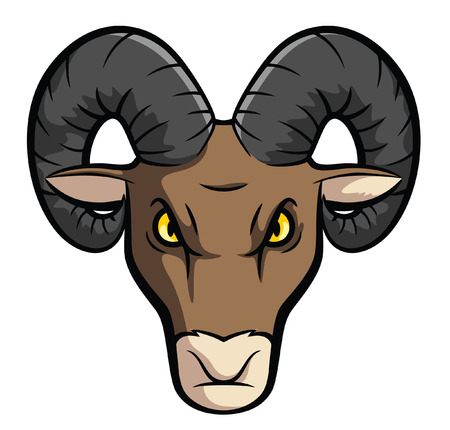 rams horns: Ram Sheep Mascot