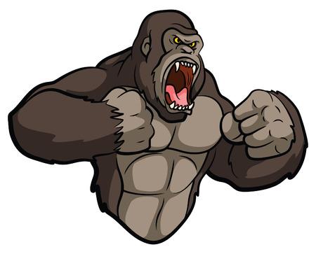 Gorilla Mascot 일러스트