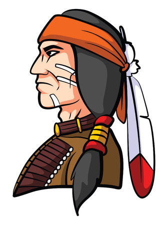 Apache Mascot Illustration