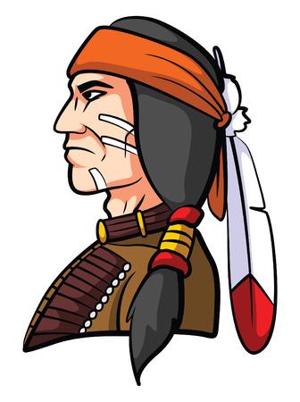 totem indien: Mascotte Apache