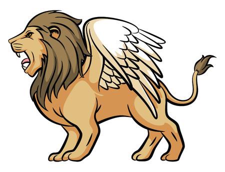 winged lion: Alas Le�n Vectores