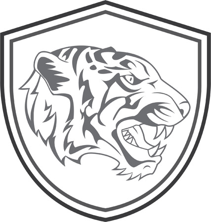 Tiger Head Mascot Tattoo