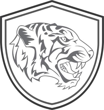 black tiger: Tiger Head Mascot Tattoo