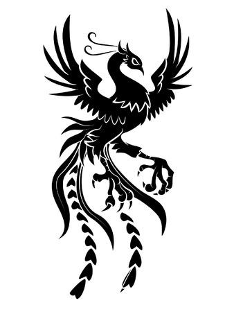 フェニックスの鳥  イラスト・ベクター素材
