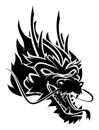 cabeza de dragon: Cabeza del drag�n Vectores