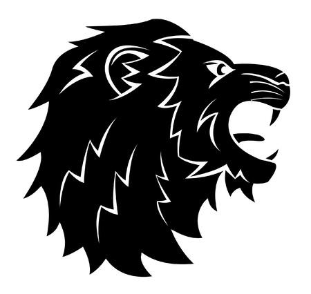 Hoofd van de Leeuw Tattoo Illustratie