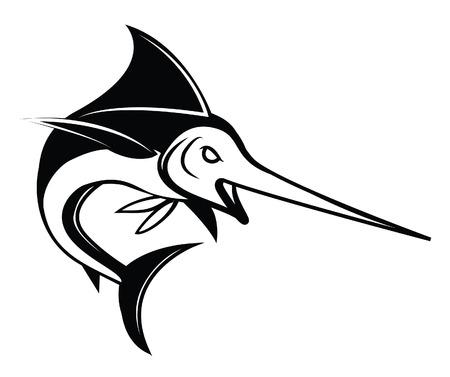marline: Marlin Fish Symbol Illustration