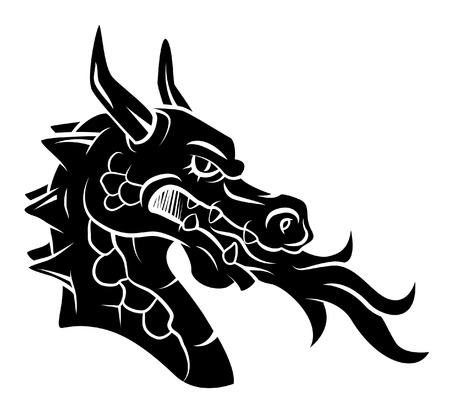 tribal dragon: Dragon