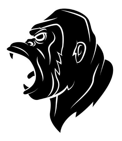 abstract gorilla: Gorilla Head Illustration