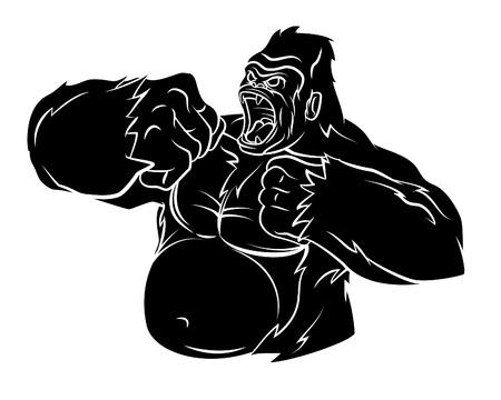 abstract gorilla: Gorilla Vector Illustration