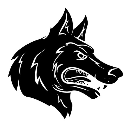 wolves: Wolf Mascot Illustration