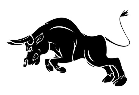 bull head: Bull Tattoo Illustration