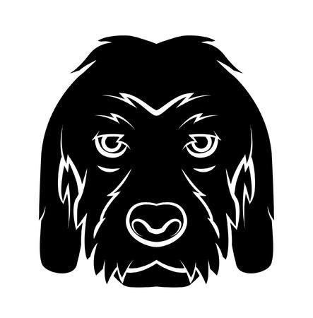 Dog Head Tattoo Vector