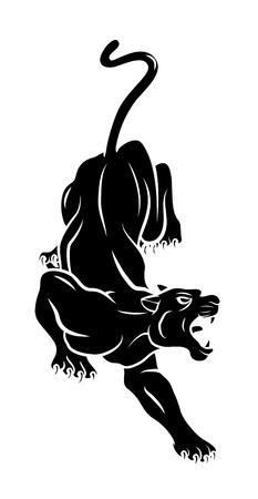 Tatuaje de la pantera Foto de archivo - 34321068