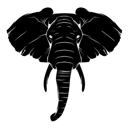 siluetas de animales: S�mbolo del elefante