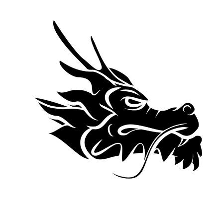 Cabeza del dragón Ilustración de vector