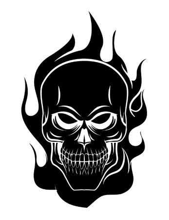 calavera caricatura: Cr�neo del fuego