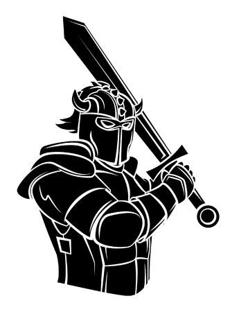 Knight Warrior Vector Illustration Vector