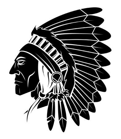 indio americano: Ilustración Apache Head Vector