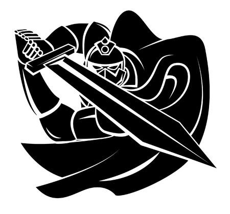 espadas medievales: Ilustraci�n Caballero del vector del guerrero Vectores