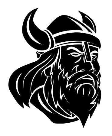 Viking Head Vector Illustration