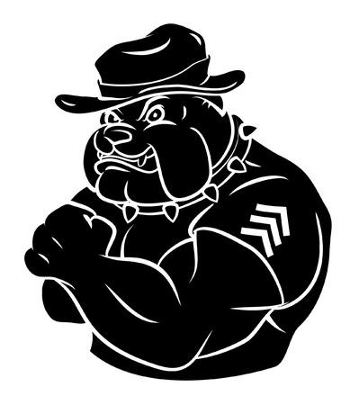 Bulldog security Ilustracja
