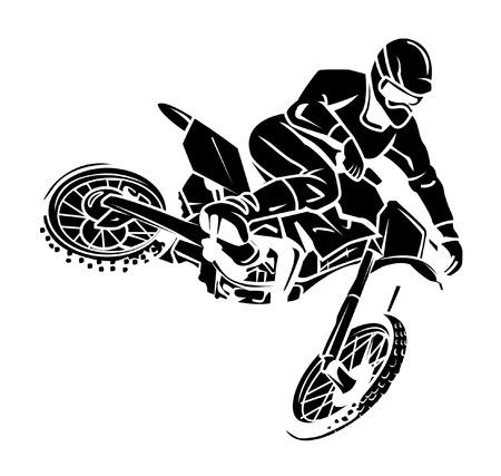 Moto cross Vettoriali