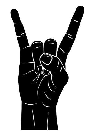 devil horns: Metal Hand Illustration