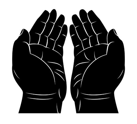 prayer hands: Praying Hand Illustration