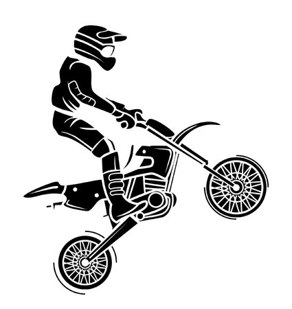 trail bike: Moto cross Illustration