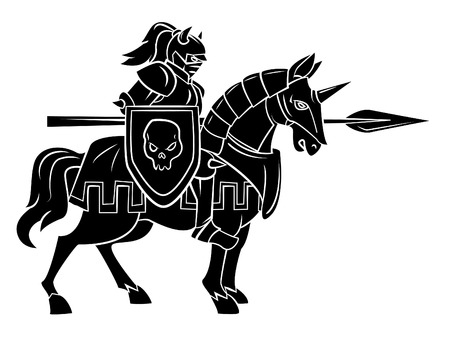 horse warrior: Knight Rider Illustration
