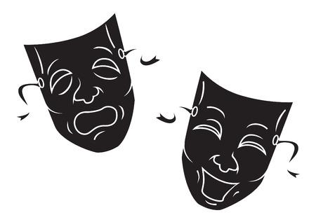 theatre masks: Mask Illustration