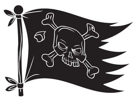 Flag Pirate Vector