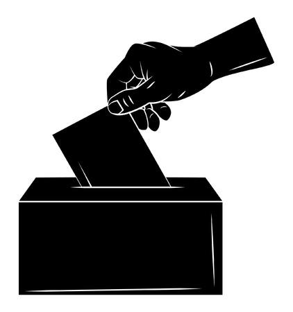 ballot box: Vote Hand