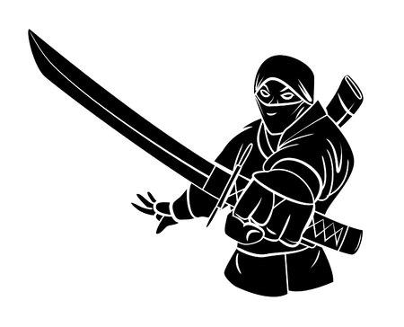japanese ninja: Ninja Illustration