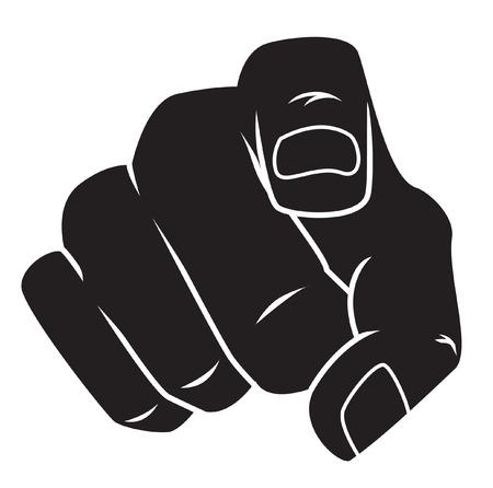 pointing finger: Pointing finger