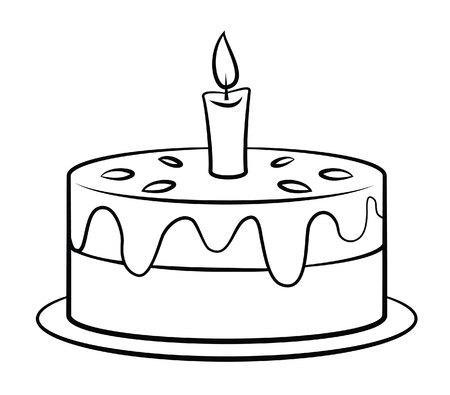 Birthday Cake 矢量图像