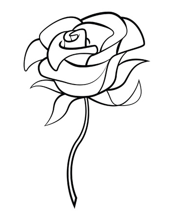 stylised: Rose Flower Illustration