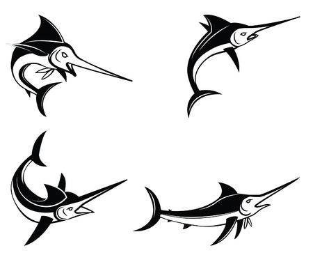 marline: Marlin Fish Symbol Set Collection