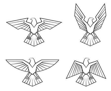 eagle shield: Eagle Symbol Set Collection