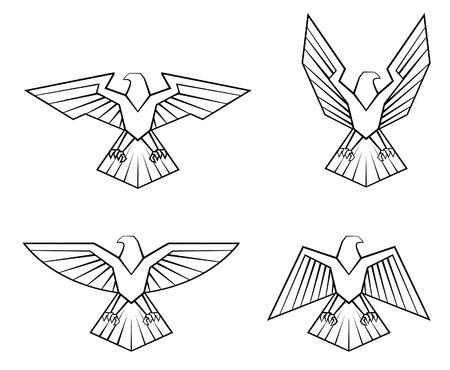 adler silhouette: Eagle-Symbol Set Sammlung
