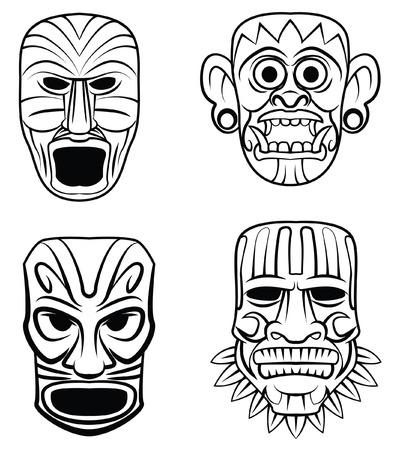 cultura maya: M�scara Totem Set Collection