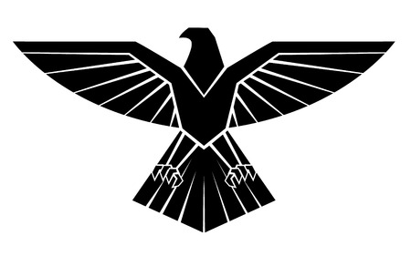 Black Silhoutte Of Eagle Symbol Vector
