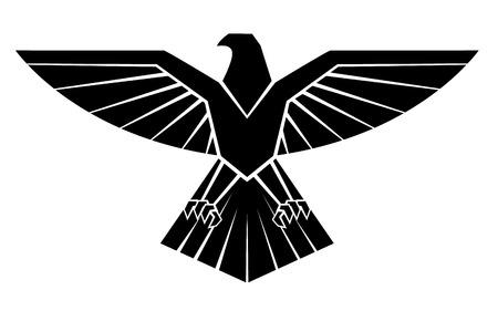 Schwarz Silhoutte von Eagle Symbol Standard-Bild - 35688441