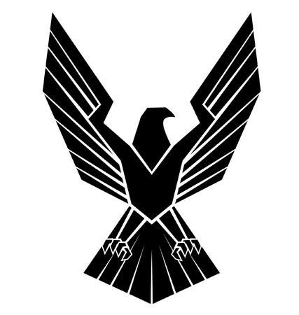 Schwarz Silhoutte von Eagle Symbol Standard-Bild - 35688443