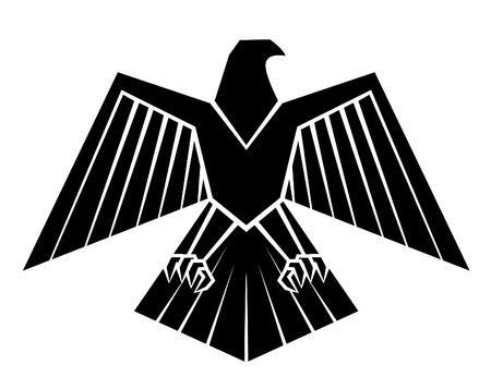 Zwarte Silhouet van Eagle van het Symbool Stock Illustratie