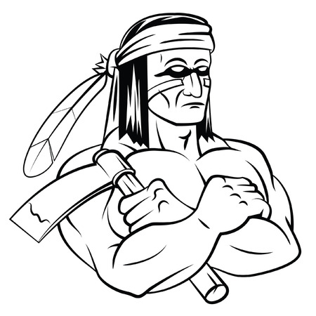 mascots: Apache Mascot Illustration